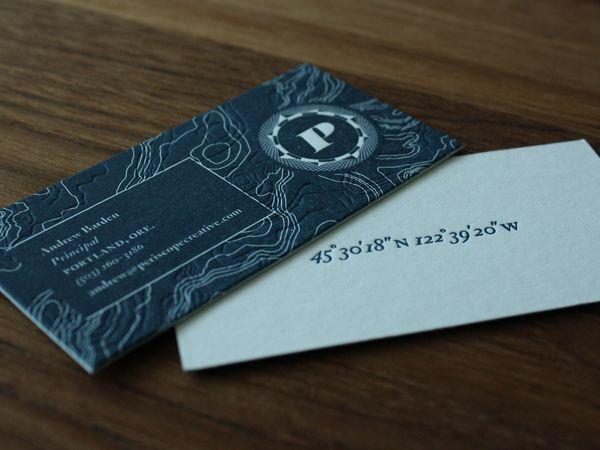 2 tone letterpress business cards!