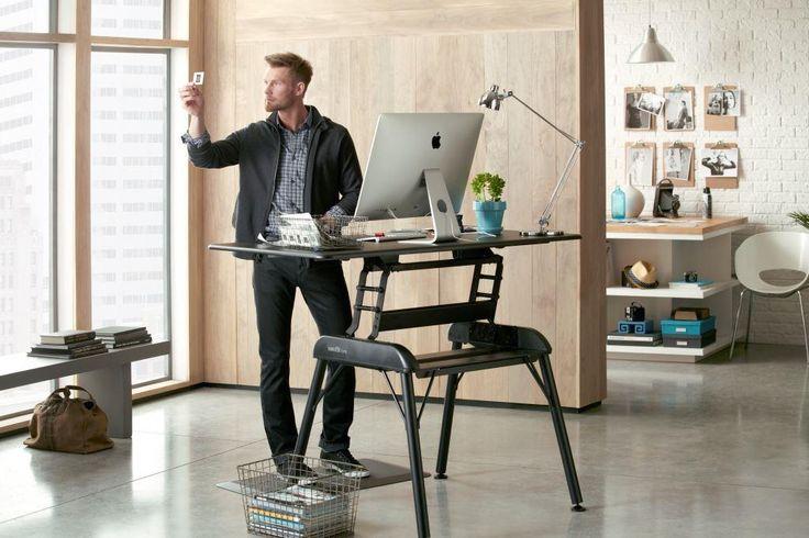 Our first full desk in the VARIDESK range of adjustable height desks