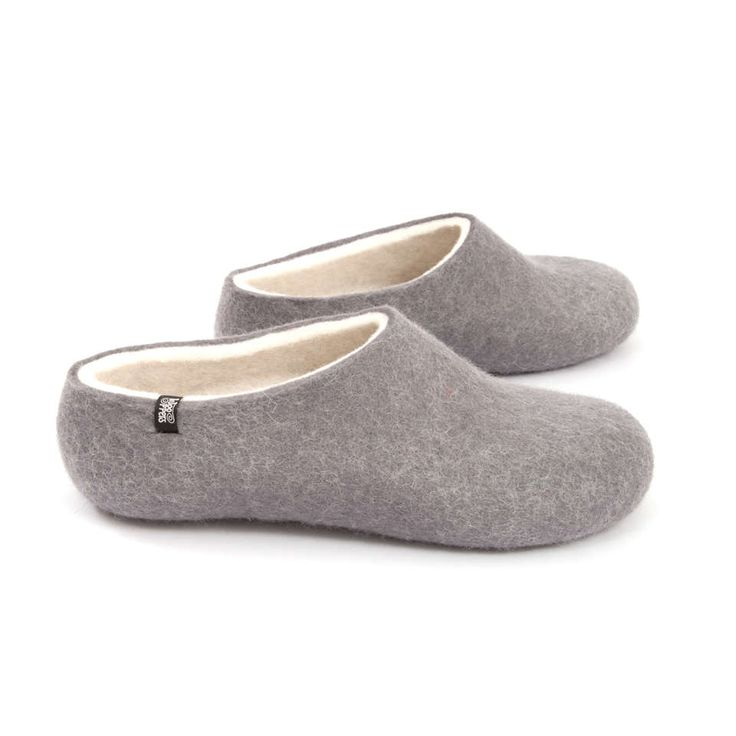 The softest, warmest wooppers ever – an absolute Bliss! Custom made. #felted #woolen #slippers