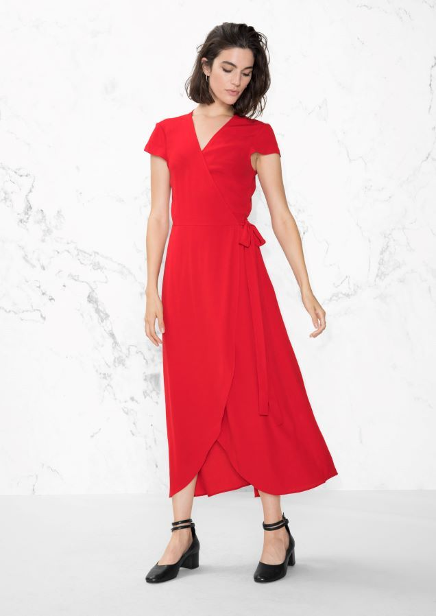 & Other Stories image 2 of Wrap Dress in Red