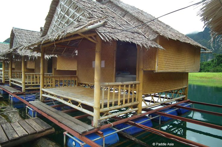 These are the standard bamboo bungalows.
