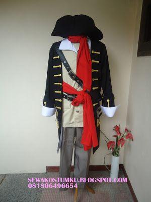 Sewa Kostum Baju Bajak Laut hub 0817 661 6654