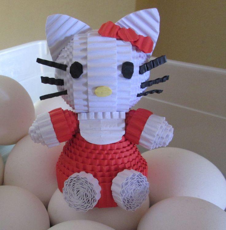 Hello Kitty loves eggs! :) #hellokitty #kokoru #papercraft #kokorupaper