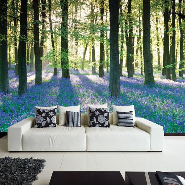 Lilac Forest Wall Mural   Self Adhesive (peel U0026 Stick) Part 57