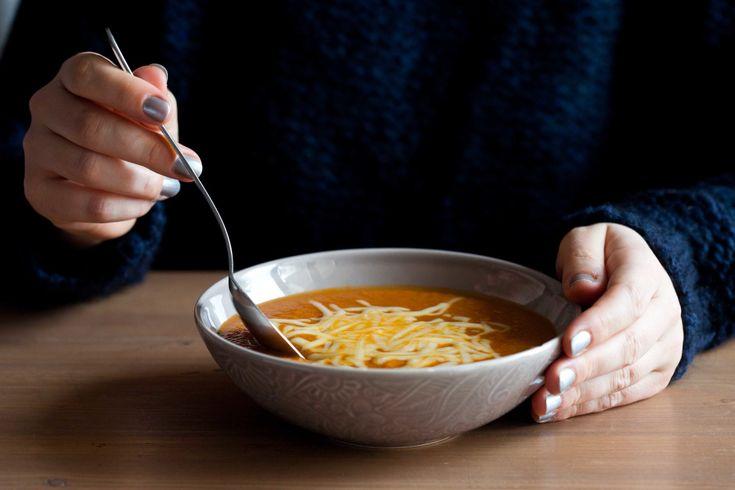 Zupa z pieczonej papryki i kalafiora