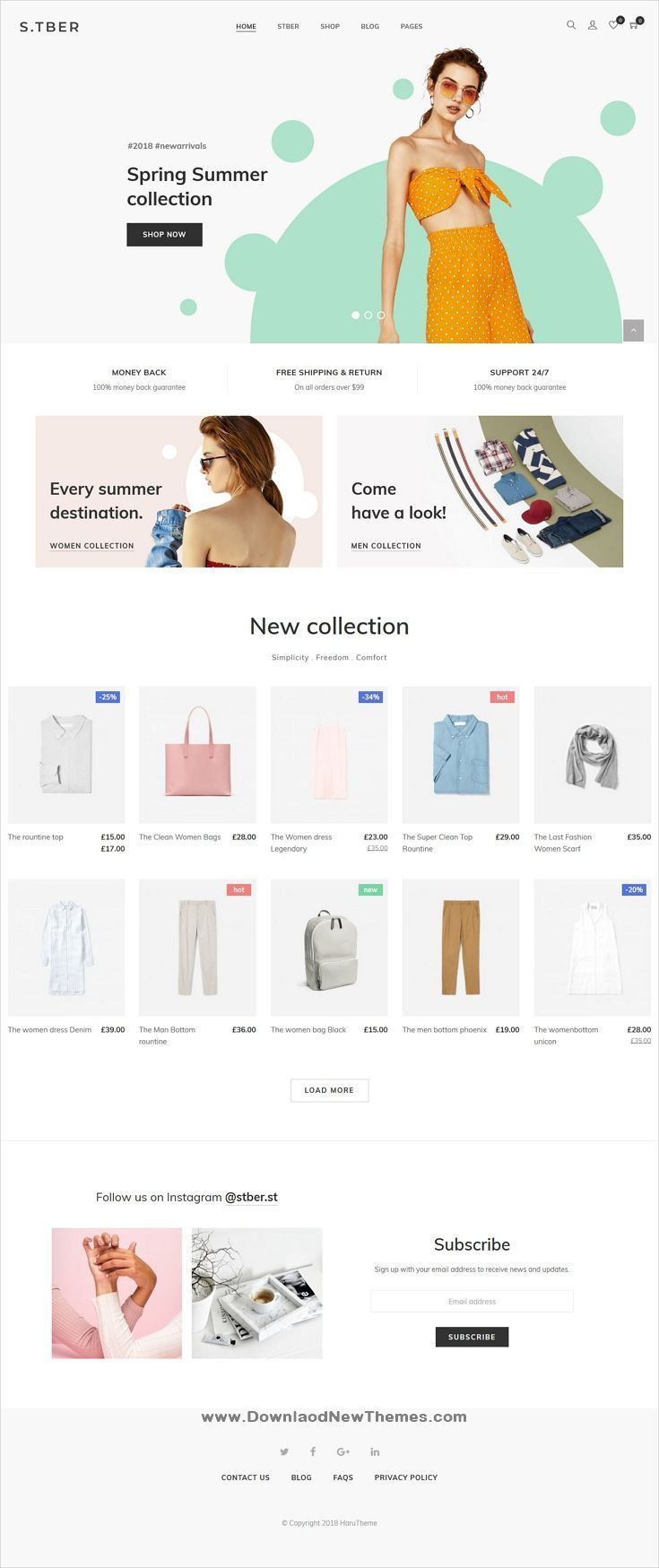 Stber Furniture T Shirt Woocommerce Wordpress Theme Ecommerce Website Design Fashion Website Ecommerce Web Design