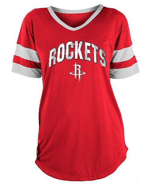 5th   Ocean Women s Houston Rockets Mesh T-Shirt - Red White L  b850931dac