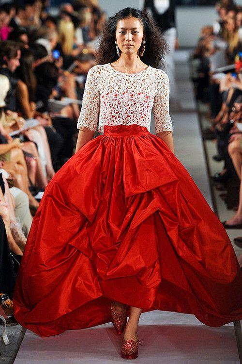 Oscar De La Renta Spring 2012: Colors Trends, Summer Fashion, Share, Renta Spring, Fashion Week, Income, Oscars, Spring 2012, Larenta