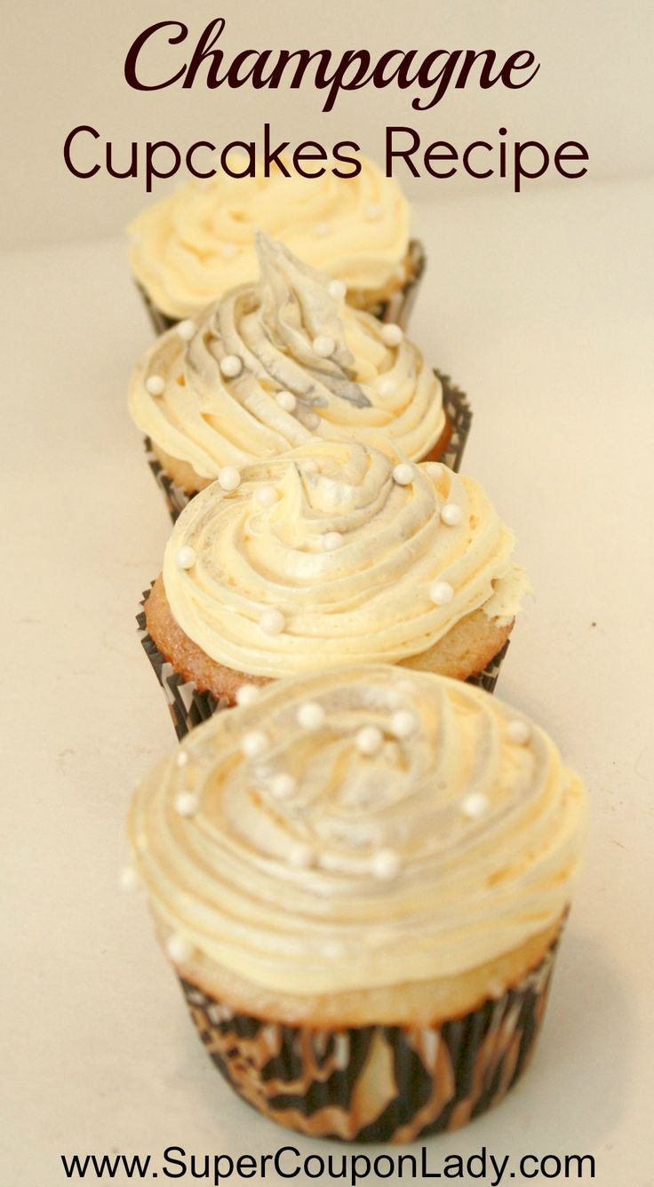 Champagne Cupcakes Grown up cupcakes These are De-LISH!!!