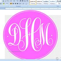 How to make a monogram using Microsoft Word