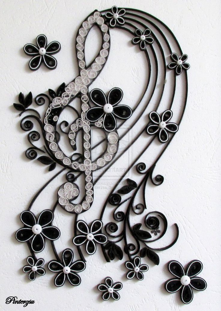 Quilled treble clef by pinterzsu on deviantART: