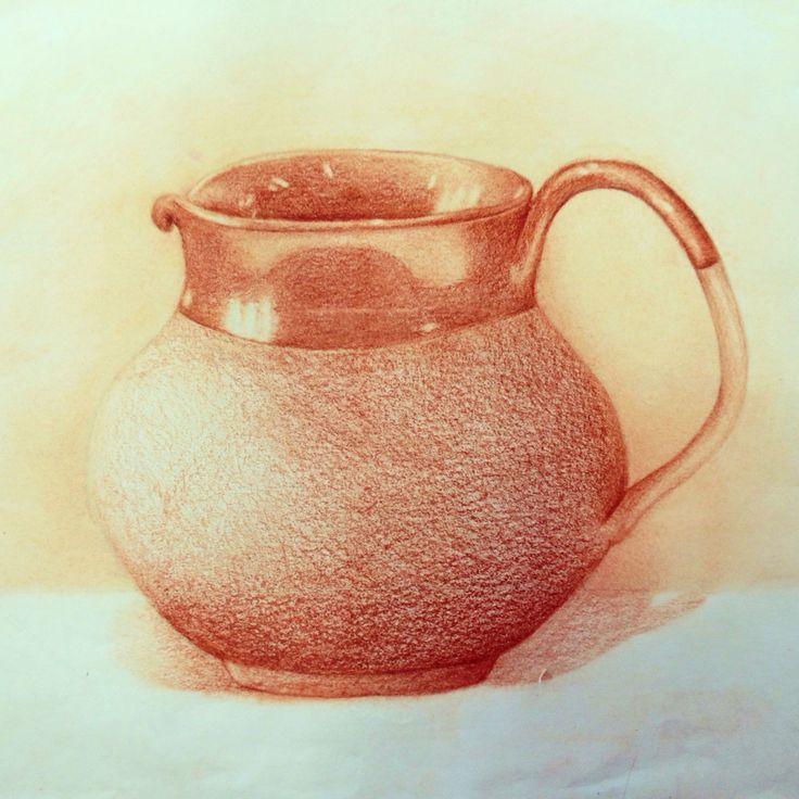Brocca Ceramica - sanguigna