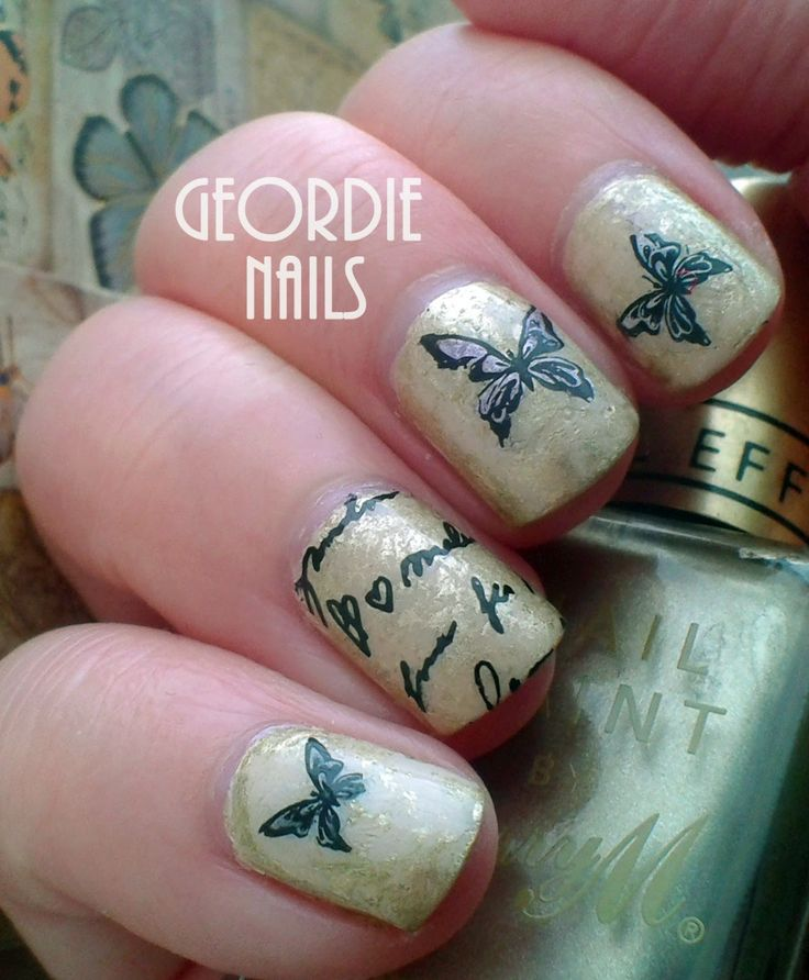 what are moose knuckles Geordie Nails Paperchase mani  Nails