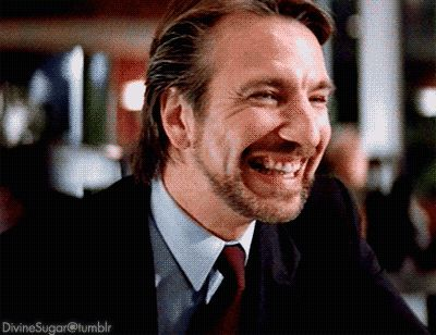"1988 - Alan Rickman as Hans Gruber in ""Die Hard."""
