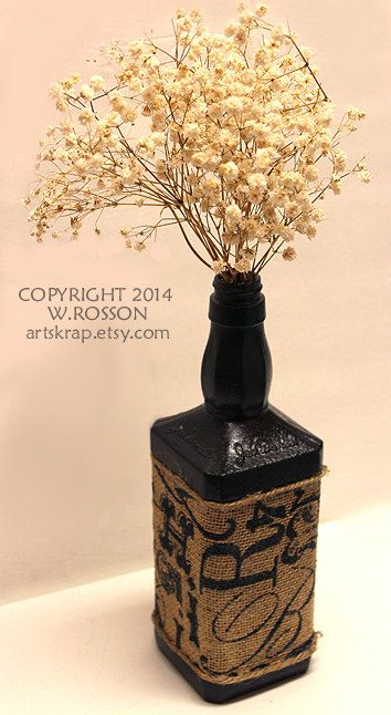 Burlap Oil Rubbed Bronze Textured and Painted Recycled by artskrap, $10.00