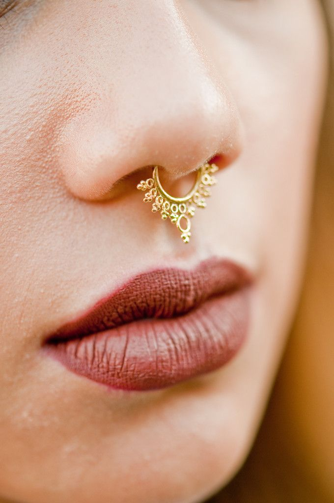 faux septum ring - Google Search