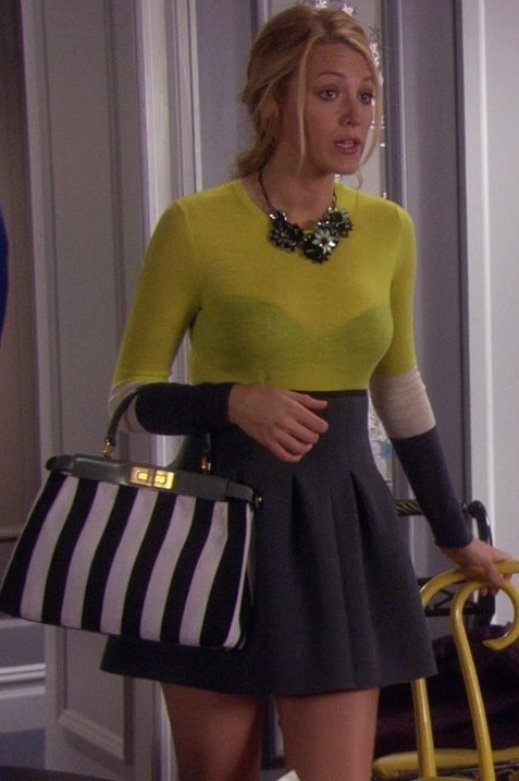 Serena van der Woodsen love the skirt and neon
