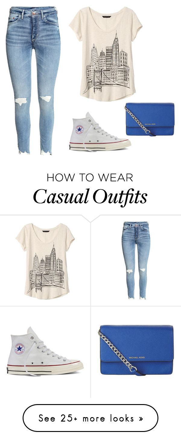 """""""Casual Wear"""" by krystle-plumadore on Polyvore featuring Banana Republic, Converse and MICHAEL Michael Kors"""