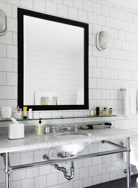 Azulejos Para Baño Rosario:White Subway Tile Bathroom