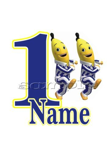 IRON ON TRANSFER PERSONALISED BIRTHDAY ANY NAME/NUMBER BANANAS IN PYJAMAS  in Crafts, Sewing & Fabric, Sewing | eBay