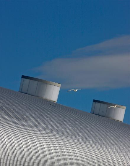 Ocean Cruise Terminal, The Manser Practice #cladding #steel #industrial #curved #low #budget #curvy #transport