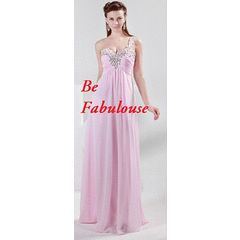 AFFORDABLE collection pink one lace up back one shoulders cocktale dress !!! for R782.00
