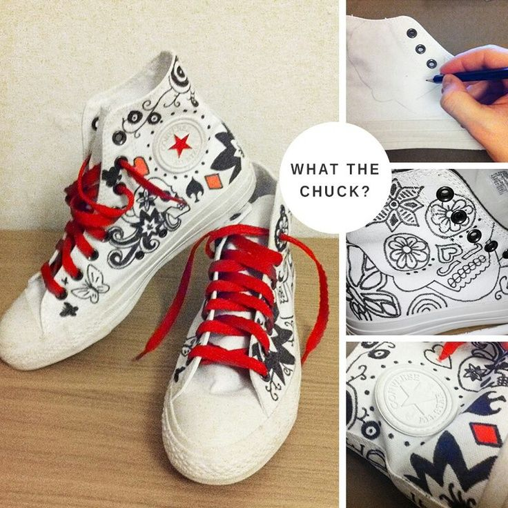 3a8d74a6e63e7c Cute DIY Converse Makeover Ideas