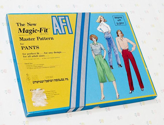 The New Magic-Fit Master Pattern for Pants a Designing with Dusan product from the American Fashion Institute, 1984. Reg. No. 996,777. Box has been opened, but the contents are like new!  Ideal for: Creating your own designs, using as a basic pattern, to adjust and fit your commercial