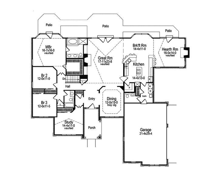 11 best House plans images on Pinterest | Architecture, Facades ...