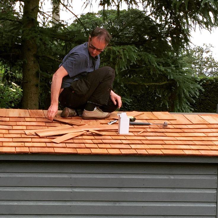 Cedarwood shingle roof.