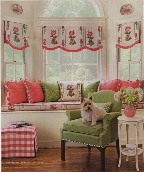 Banded Valances over Banquette