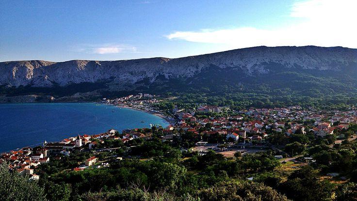 Baška, Island of Krk, Croatia. #Baska #Croatia #Krk #city #sea #sky #photography