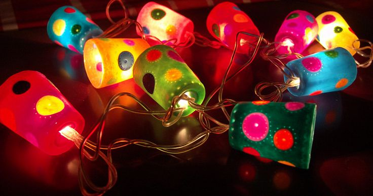 Polymer clay lights