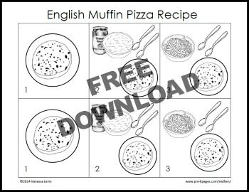 Free Printable Little Red Hen Makes a Pizza Picture Recipe for Kids from Pre-K Pages