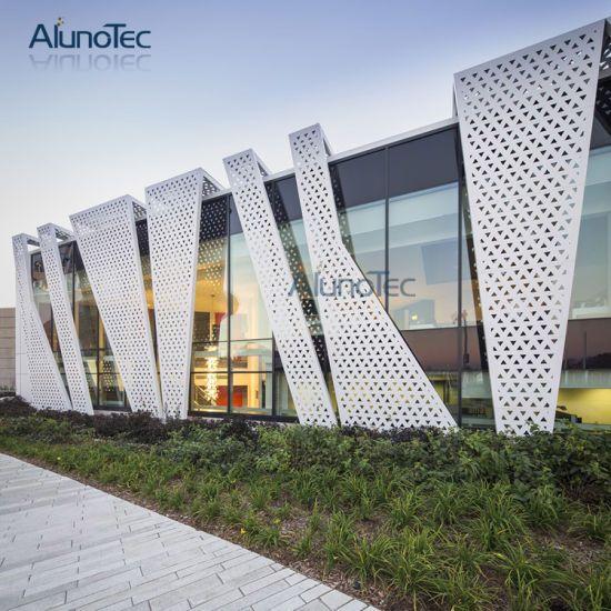Aluminium Wall Cladding Systems Laser Cut Metal Screen Panels