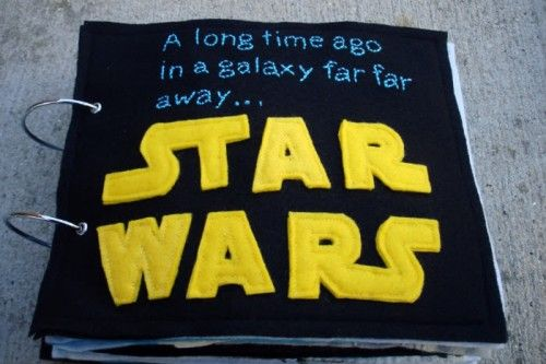 """I MUST MAKE THIS! Get your nerd on and DIY your own Star Wars-themed """"quiet book"""" 