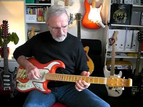 Burns Ernst plays Visions by Cliff Richard instrumental guitar cover