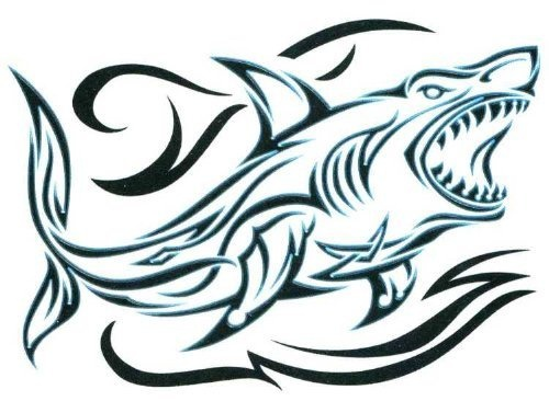 "Black & Blue Tribal Shark Temporary Body Art Tattoos 2.5"" x 3.5"" TMI,http://www.amazon.com/dp/B00AB7J91S/ref=cm_sw_r_pi_dp_hU57qb00D85RYQ73 #sharks #tribal #tattoos"