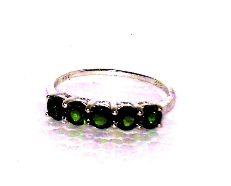 Russian Chrome Diopside ring 1.75 ct size 7 Sterling USA SELLER #Unbranded #Band