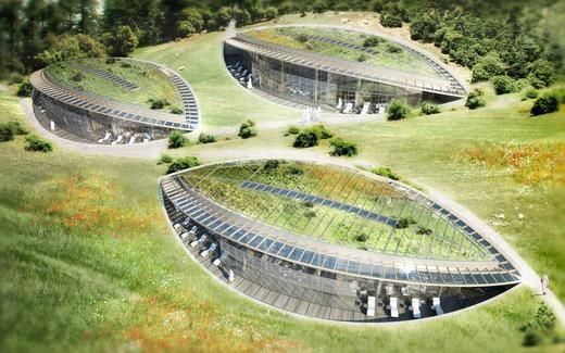 King Forest by Vincent Callebaut. I love the design of the three different types of structures making up the complex. They are all very organic and leaf-like in shape. Exciting!!