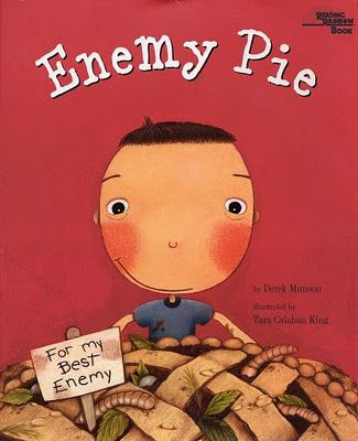 Enemy Pie (Friendship) Writing Activities- nice activity to use for a class meeting- storyline online.net has read aloud