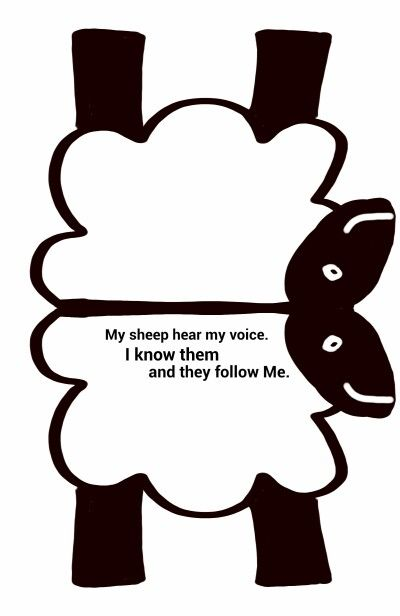 Sheep craft. Print on card, fold, cut, decorate with cotton wool.