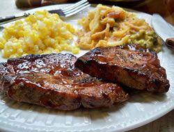 Grilled Marinated Pork Steaks Recipe