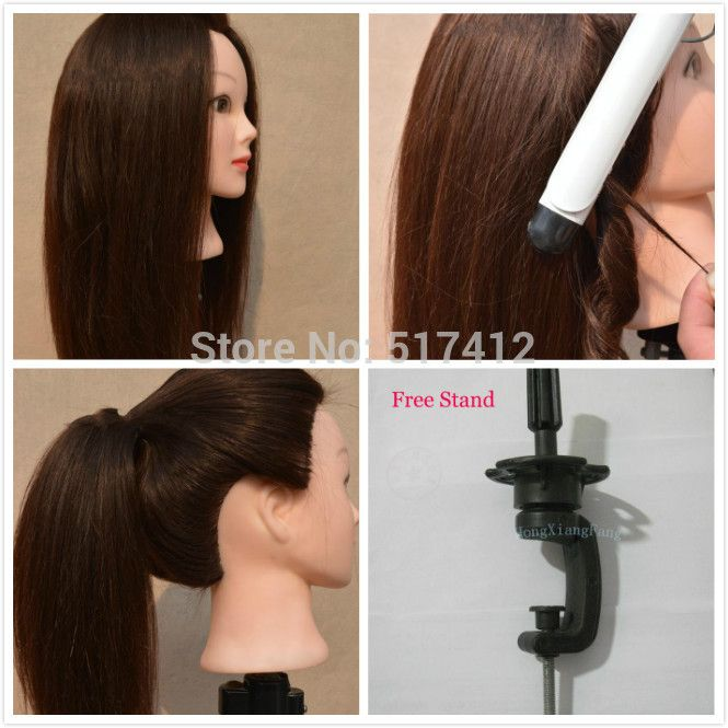 Mannequin Sale Dummy Maniqui mannequin head hairstyles 80% Real Hair Training Head hair styling mannequins manikin manequin