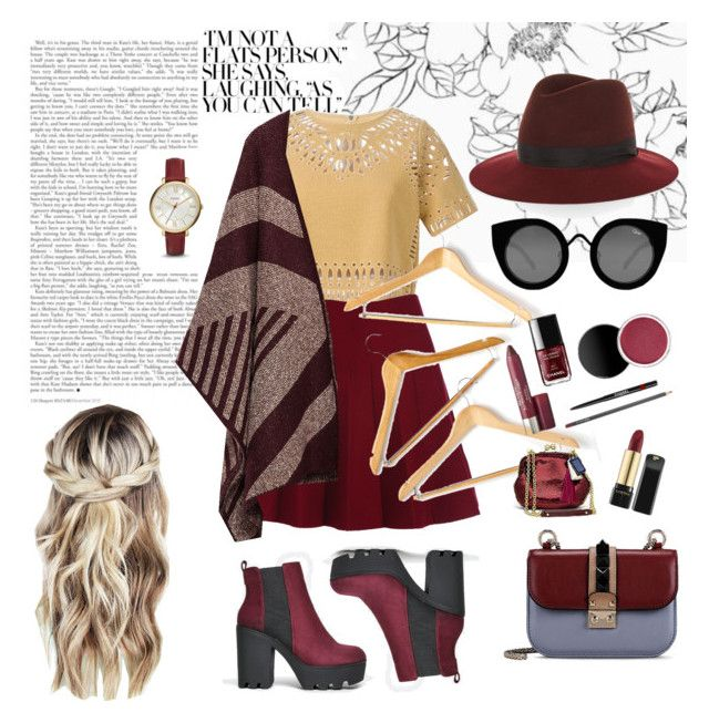 """Maroon"" by aninditaarr on Polyvore featuring Sea, New York, FOSSIL, Valentino, Zara, Honey-Can-Do, Soda, Quay and rag & bone"