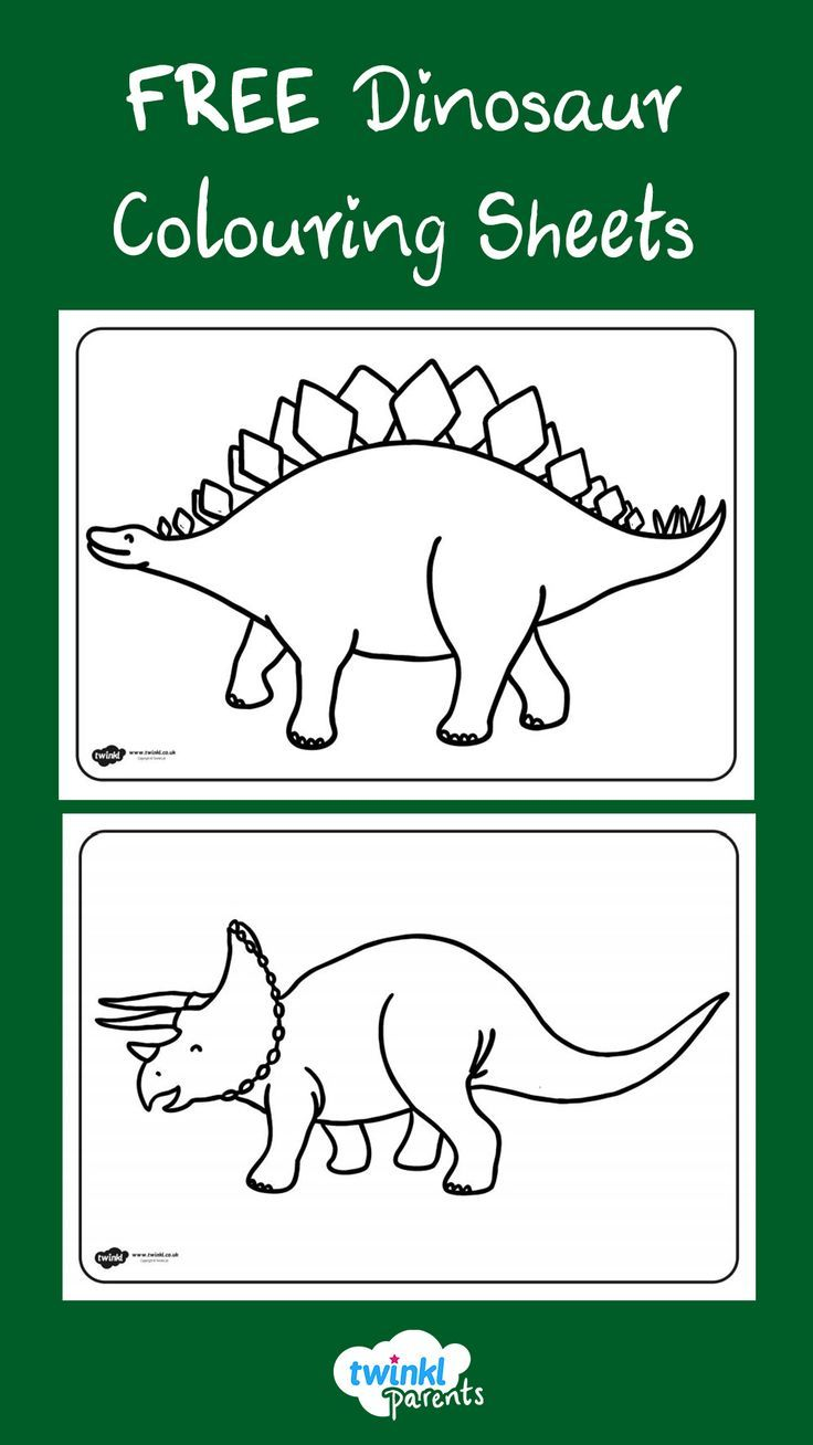 This Handy Set Of Colouring Sheets Gives Your Children The Opportunity To Practise Their Colouring A Dinosaur Coloring Sheets Dinosaur Coloring Coloring Sheets
