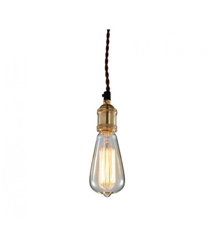 Lucretia Industrial Edison Bulb Pendant Lamp - A