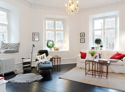 White Walls, Dark Floor. Scandinavian Living ... Part 92