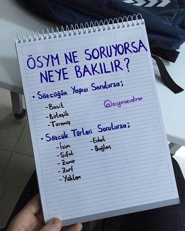 Bunlara dikkat edinnnn  . . . #yks #tyt #2018tayfa #2019tayfa #osym #turkce #türkçe #yks2018 #ykstayfa #2017tayfa #yks2018tayfa #ygs #lys