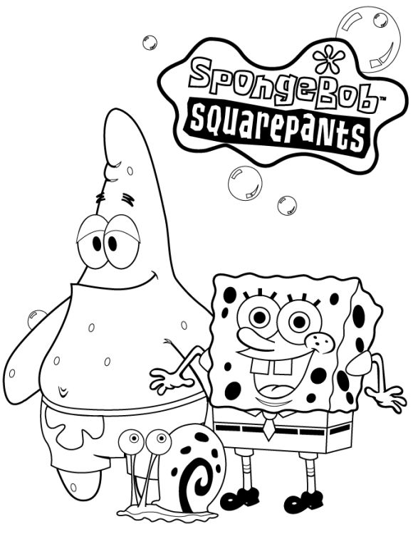 Coloring Pages For Kids Spongebob Squarepants | COLORING PAGES ...